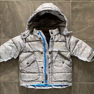 Baby boys gray gap primaloft down winter coat